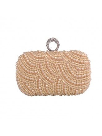 Pearl Minaudiere with Rhinestone Style