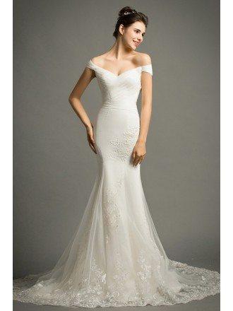 Mermaid wedding dresses 2018 wedding gowns mermaid style for Mermaid off shoulder wedding dress