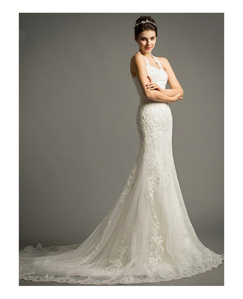 wedding dresses lace wedding dresses sexy mermaid halter court