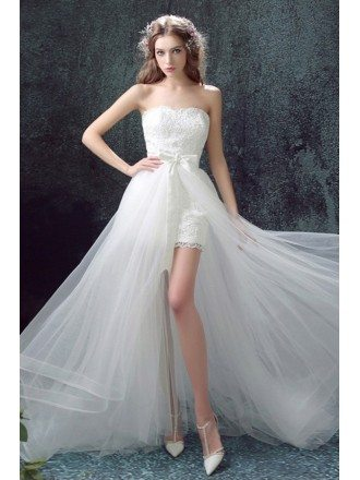 Short Tight Wedding Dresses, Tight Short Wedding Dresses - GemGrace