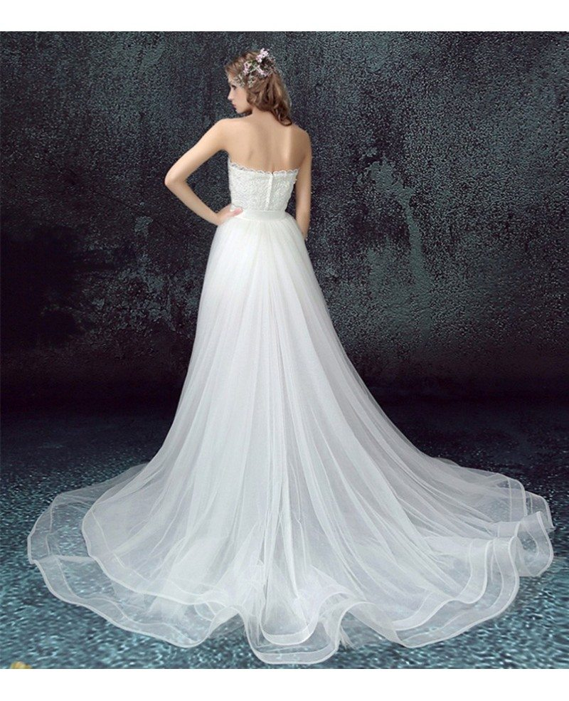 Unique Lace Wedding Dresses : Dresses gt unique high low sweetheart tulle wedding dress with lace