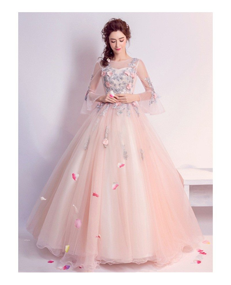 Wedding Dresses With Pink Beading - Wedding Dress Designers