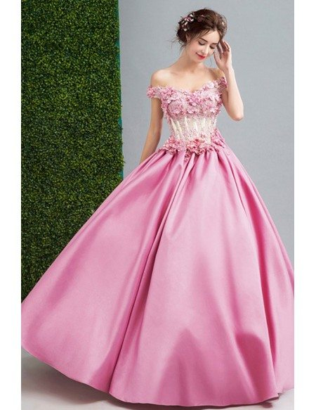 Pink Ball Gown Wedding Dresses