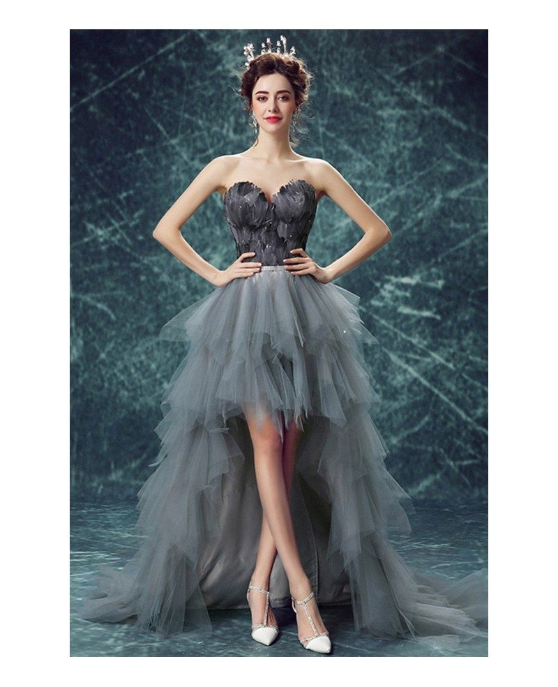 Special Ball-gown Sweetheart High Low Formal Dress With Cascading ...