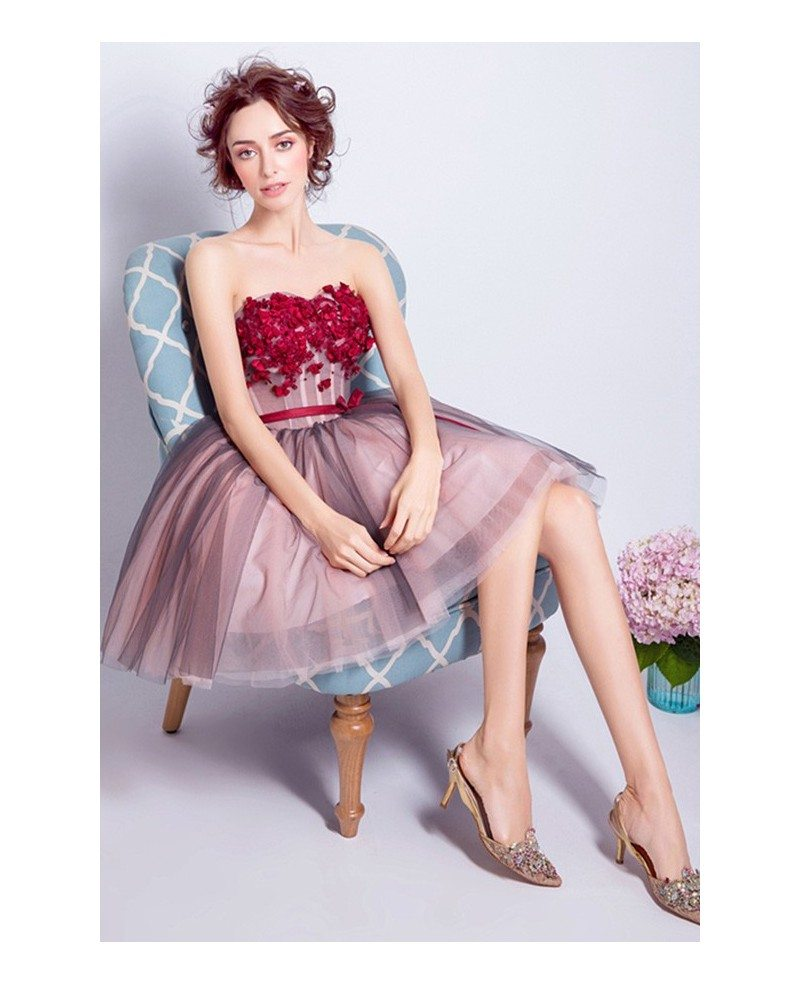 b08466e5977 Red Tulle Prom Dress Short - Gomes Weine AG