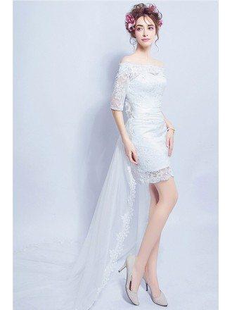 Short Tight Wedding Dresses, Tight Short Wedding Dresses - GemGrace
