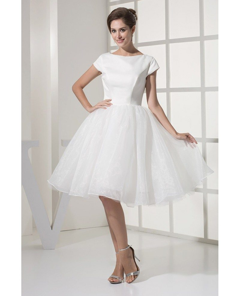 short simple wedding dress wedding dresses tulle with sleeves modest 7355