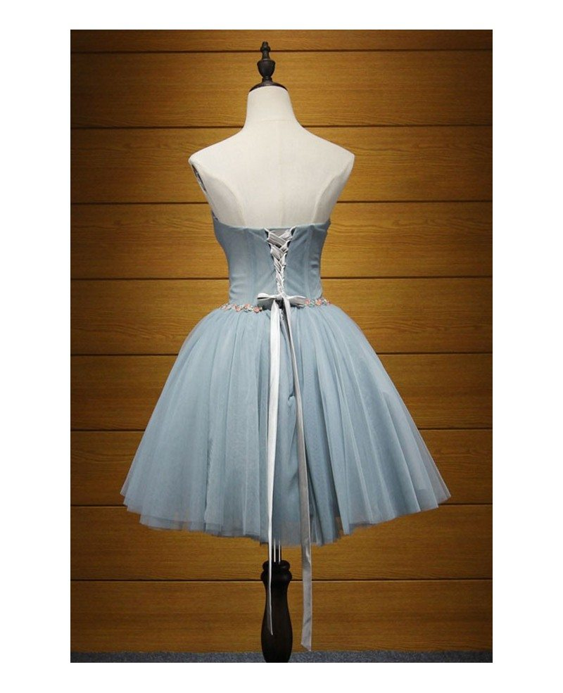 Simple Ball-gown Sweetheart Short Tulle Homecoming Dress With ...