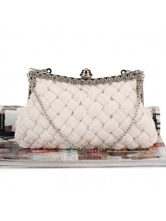 Satin Clutches with Rhinestone Style