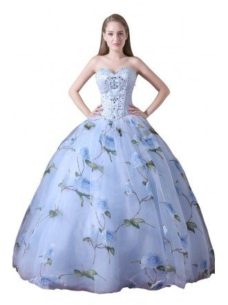 Ball-gown Sweetheart Floor-length Chiffon Prom Dress With Beading
