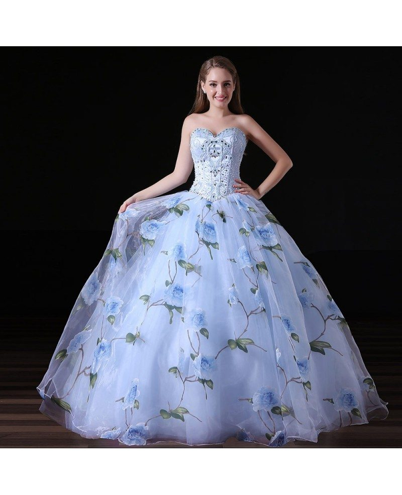 Ball-gown Sweetheart Floor-length Chiffon Prom Dress With