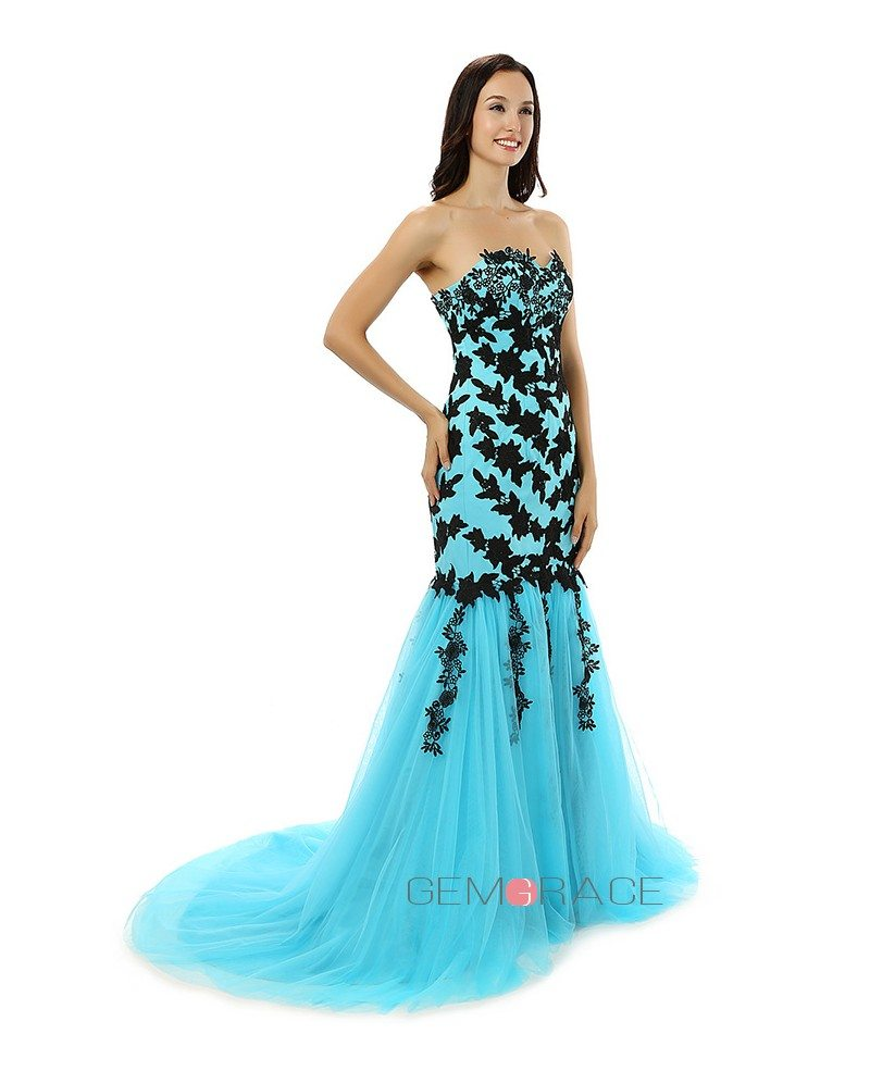 A-line Sweetheart Court-train Prom Dress #CY0216 $187