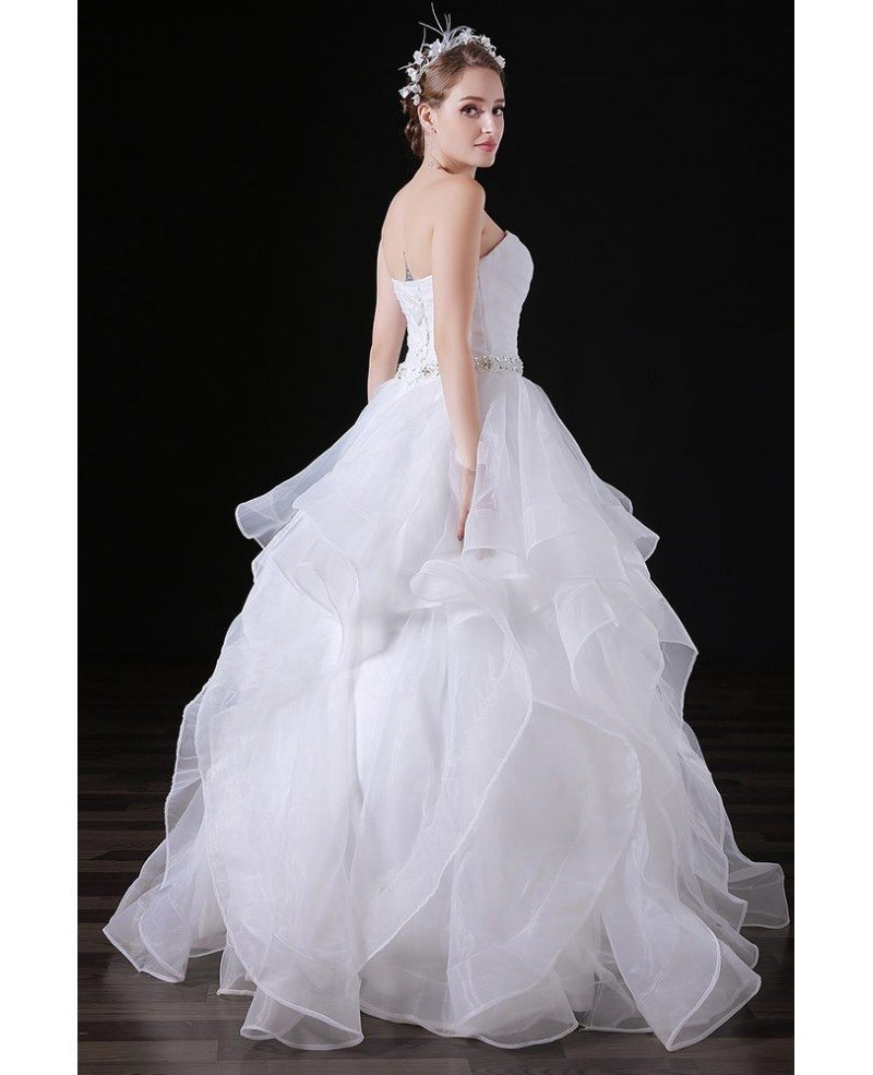 Tulle Ball Gown Wedding Dress: Ball-gown Sweetheart Floor-length Tulle Wedding Dress With
