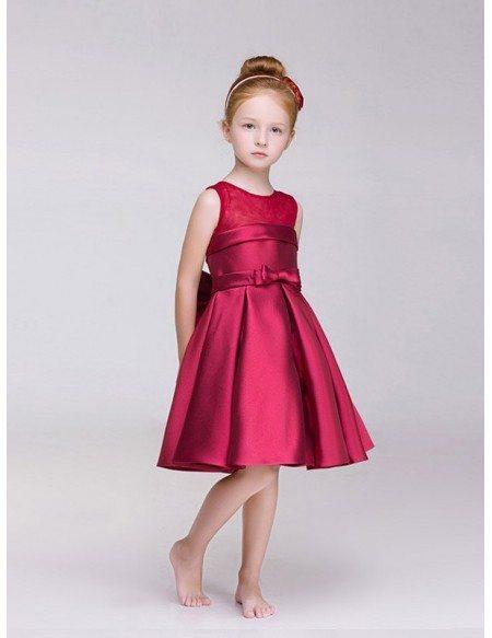 Red Satin Short Dress