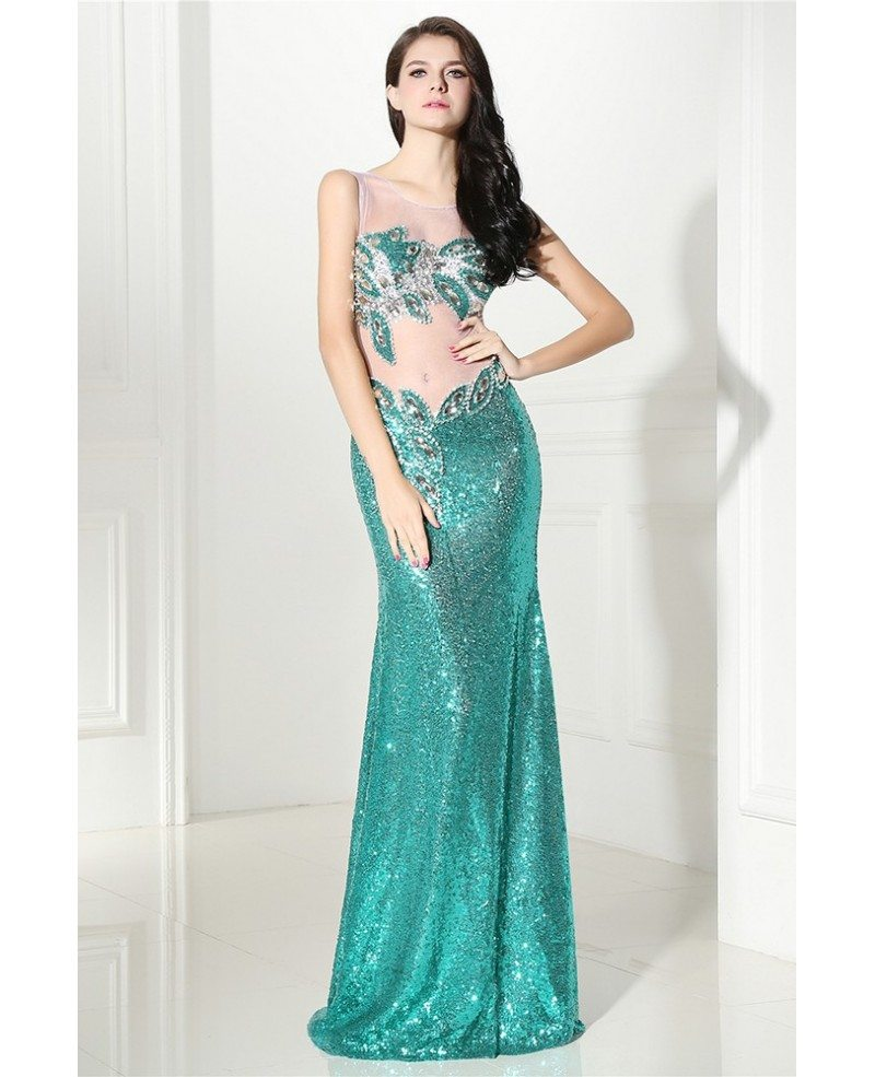 Sparkle Sexy Sequins Open Back Long Formal Party Dress # ...