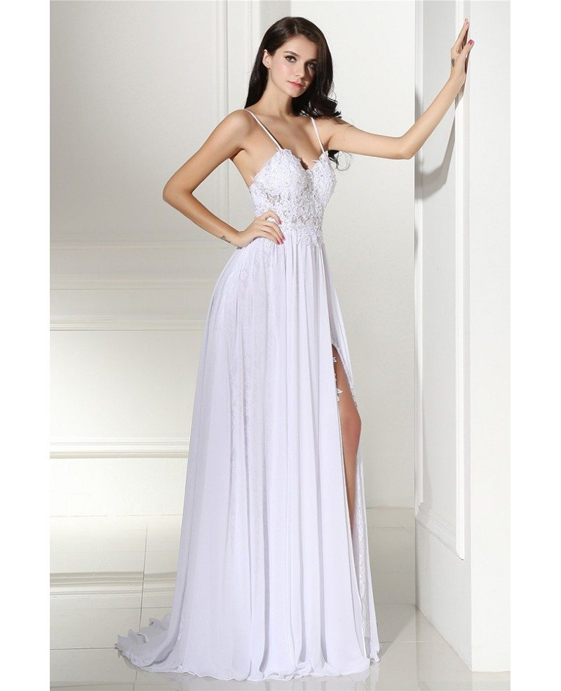 $61 Strapless White Hi Low Prom Dress Short With Lace