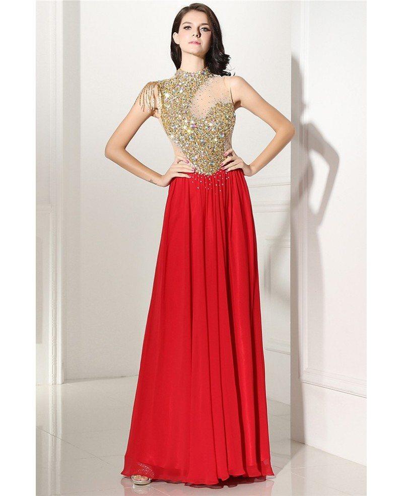 Celebrity Shinning Long Formal Party Dress #LG0305