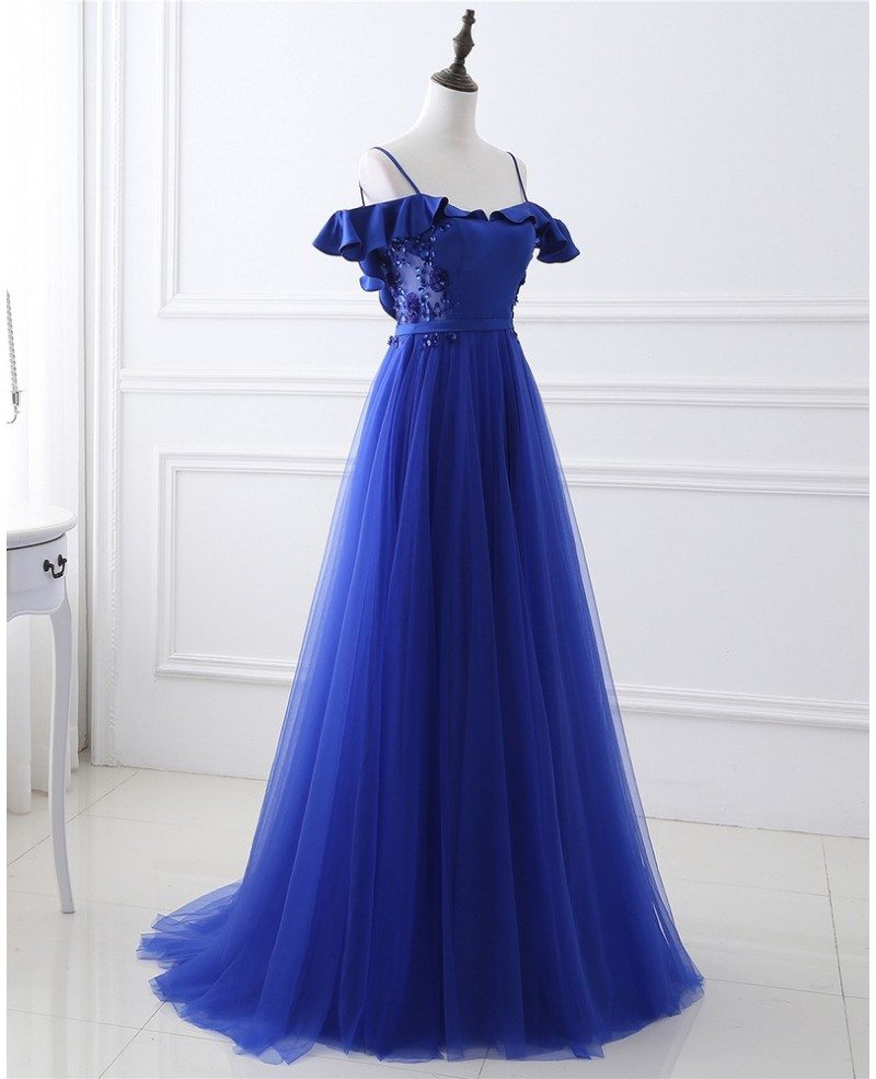 long tulle prom dress with corset open back lg0318