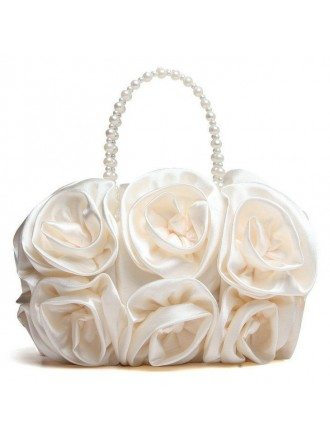 Silk Flower Clutches with Pearl Wristlets Style