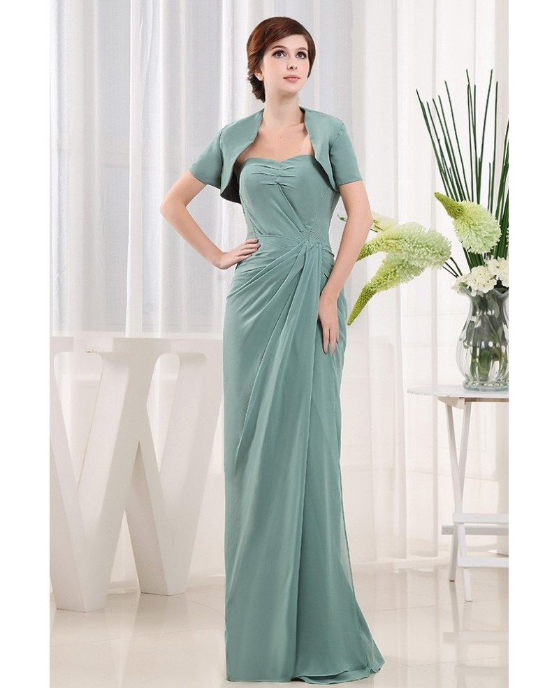 Mother Of The Bride Dresses: Sheath Sweetheart Floor-length Chiffon Mother Of The Bride