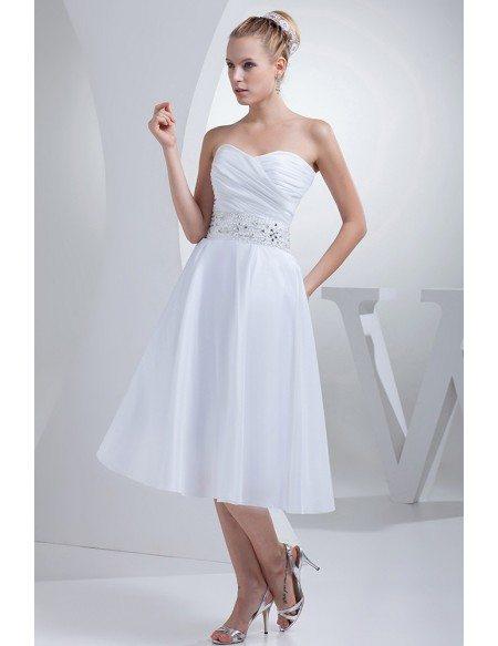 Simple Tea Length Wedding Dresses