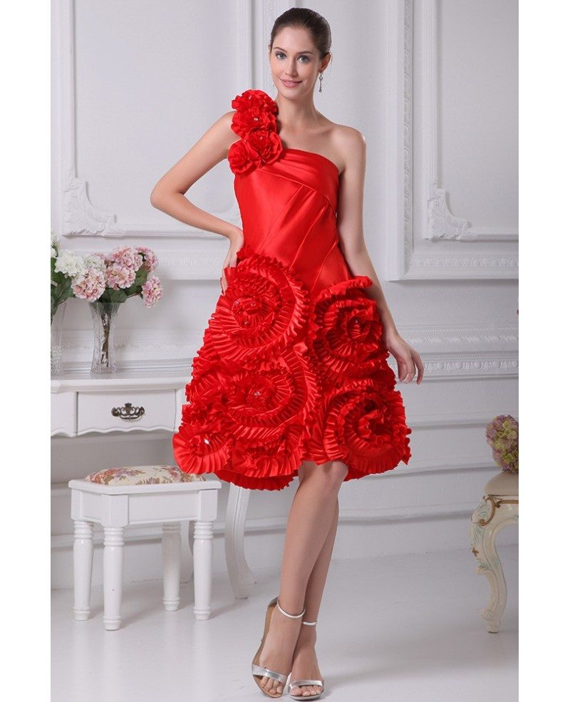 Beautiful Dresses To Wear To A Wedding: Red Reception Short Wedding Dresses Modern Beautiful Red