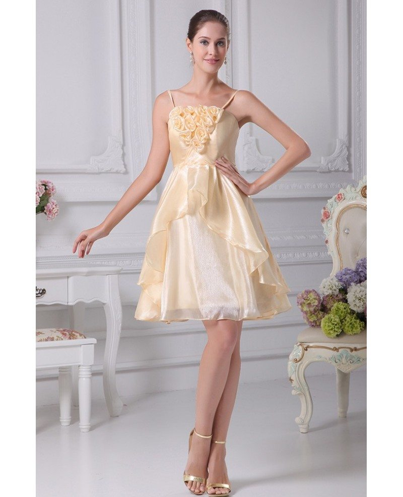 Cute Short Wedding Dresses Of Champagne Short Wedding Dresses Reception Spaghetti Straps
