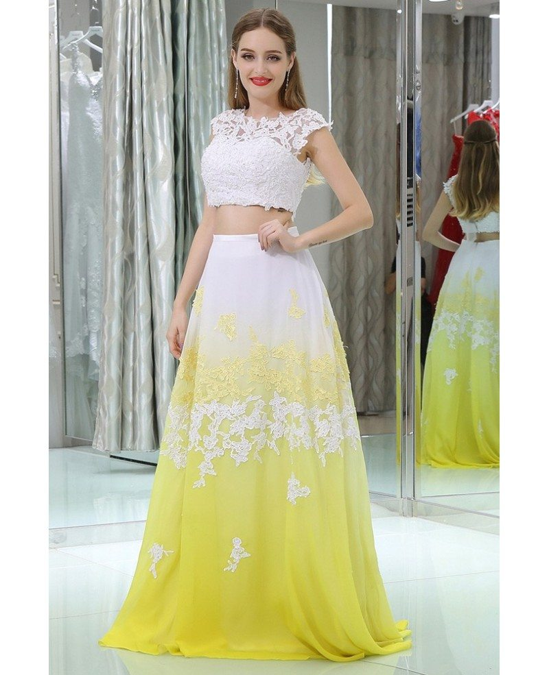 Yellow And White Prom Dresses 31