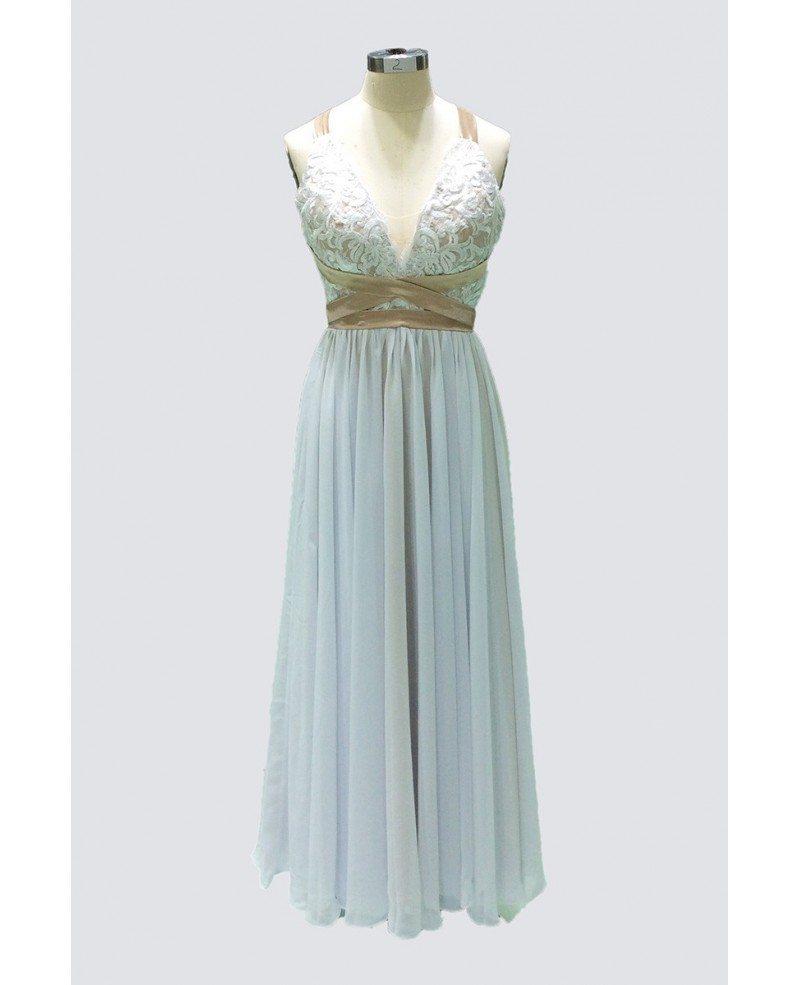 Boho A-line Floor-length Chiffon Beach Wedding Dress With Open Back ...