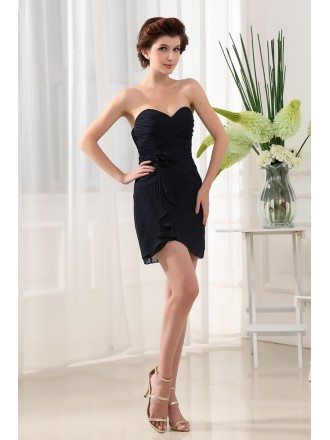 Sheath Sweetheart Short Chiffon Cocktail Dress