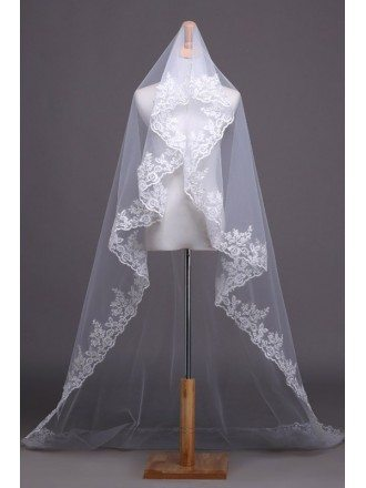 Cathedral Lace Applique Veil