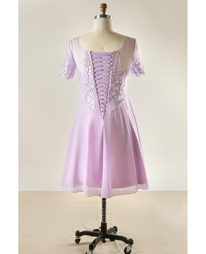 Women's Plus Size Lace Short Party Dress For Formal ... - photo #45