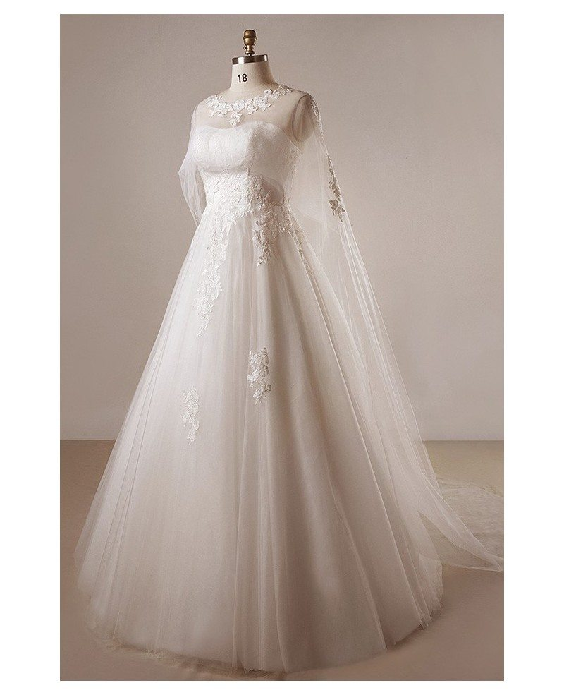 Plus size ivory a line lace floor length strapless wedding for Shawls for wedding dresses