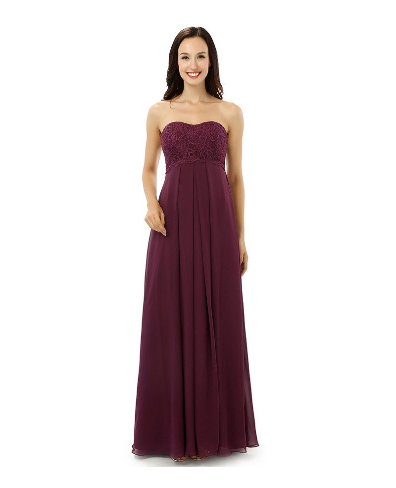 Sheath sweetheart floor length bridesmaid dress cy0232 for Floor length dresses
