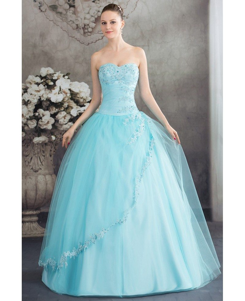Beautiful Blue Lace Tulle Ballgown Wedding Dress Corset ... - photo#8