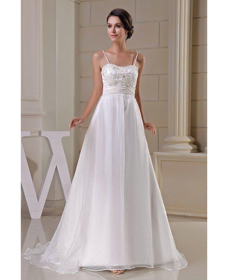 Organza Empire Waist Aline Maternity Wedding Dress Spaghetti Straps ...