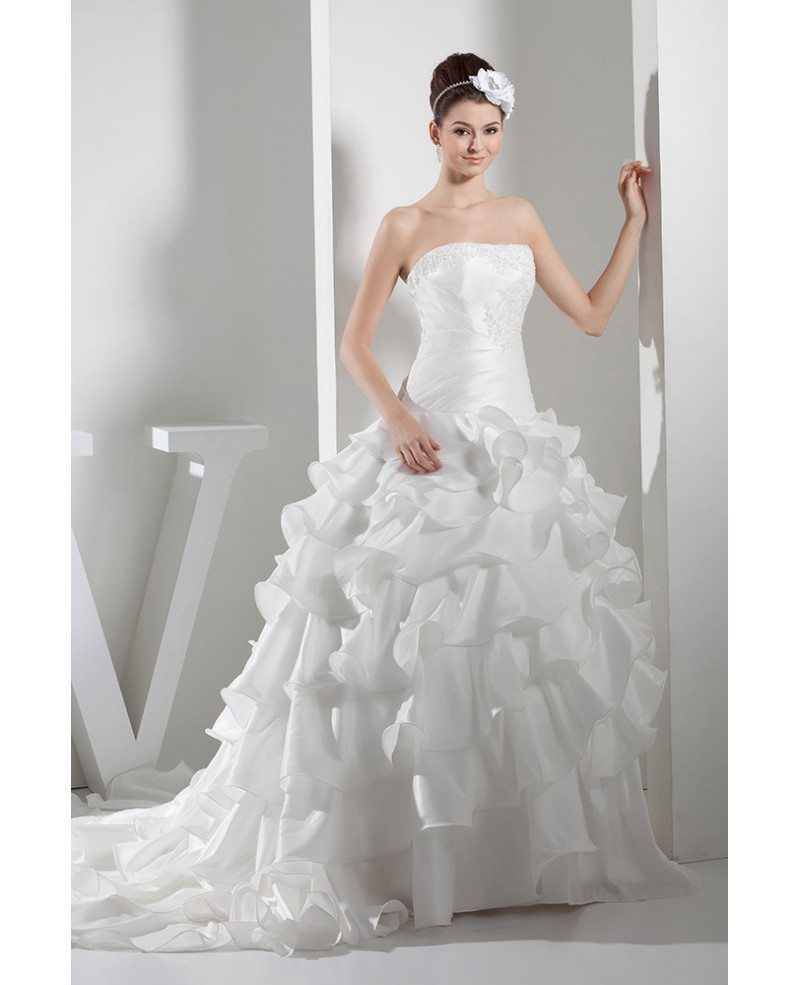 Wedding Gown With Ruffles
