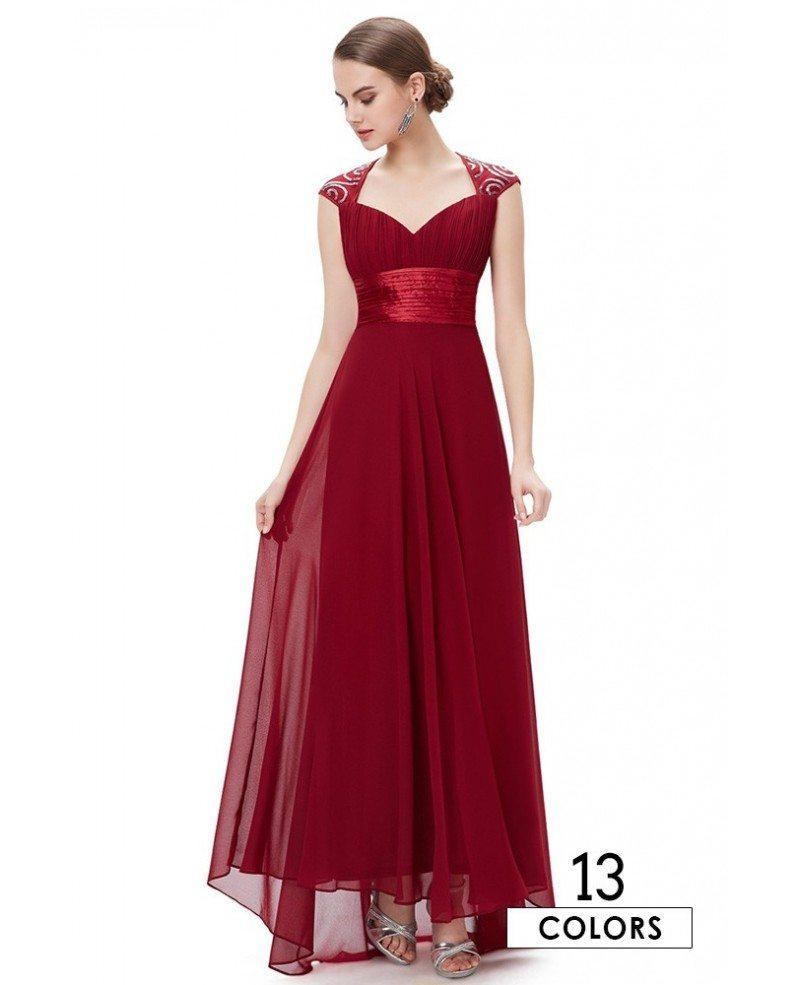 A-line V-neck Chiffon Floor-length Bridesmaid Dress With