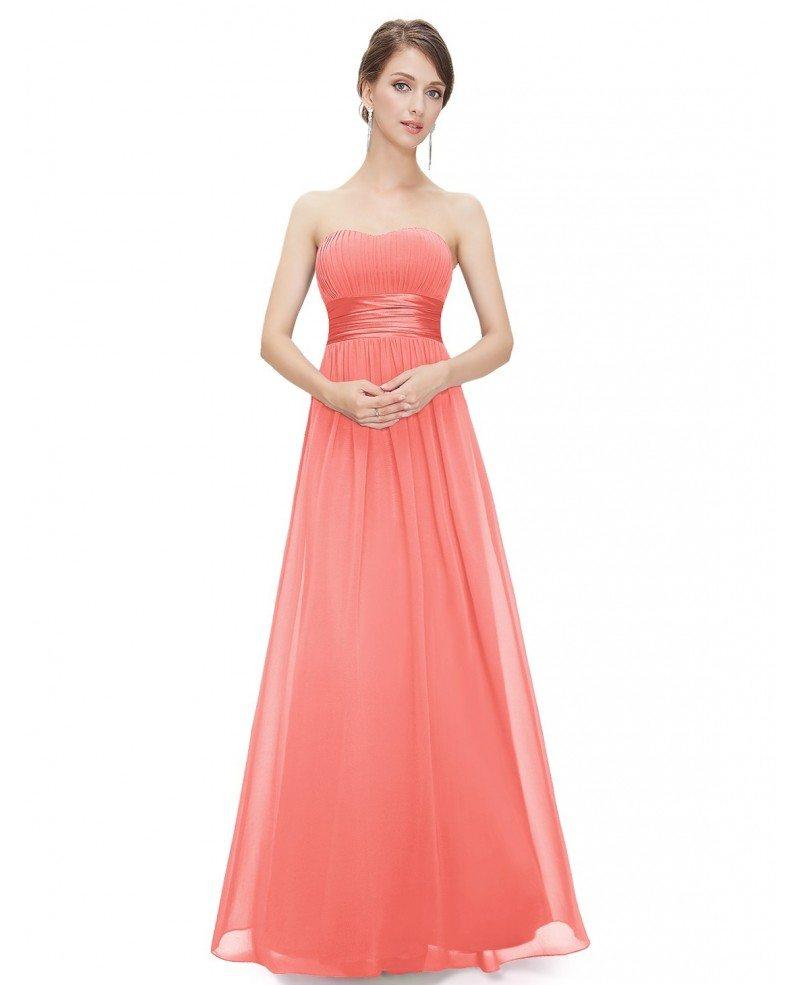 Chiffon Dressing Gown: Empire Strapless Chiffon Floor-length Bridesmaid Dress