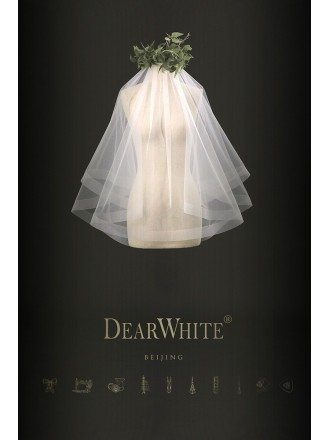 Designer Cute Short Wedding Veil