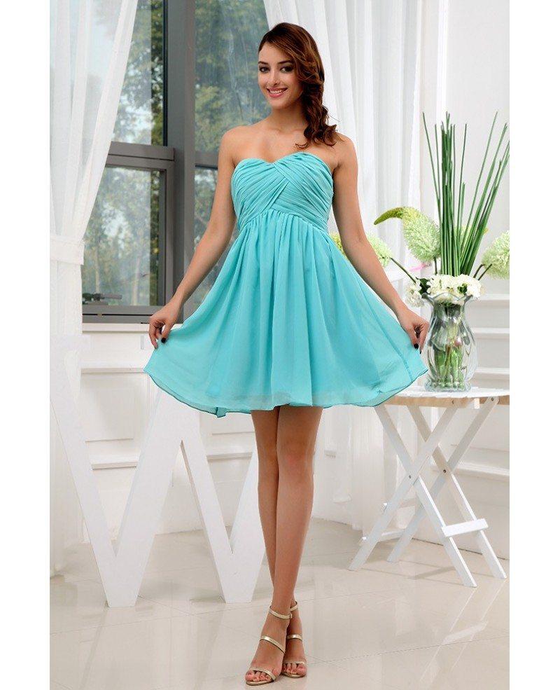 aline sweetheart short chiffon bridesmaid dress op3114
