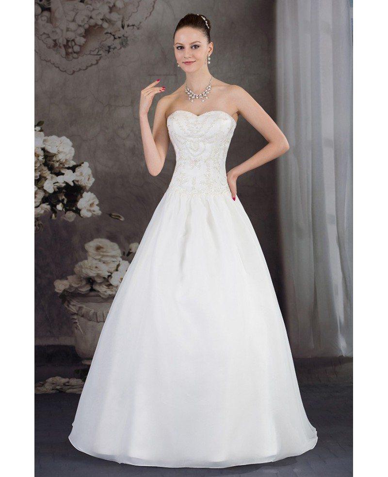 Handmade Beaded Ballgown Wedding Dress Sweetheart #OPH1239 $233 ...