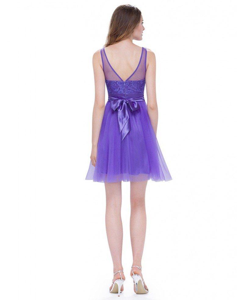 Round neck sleeveless short cheap bridesmaid dress for Short wedding dress cheap
