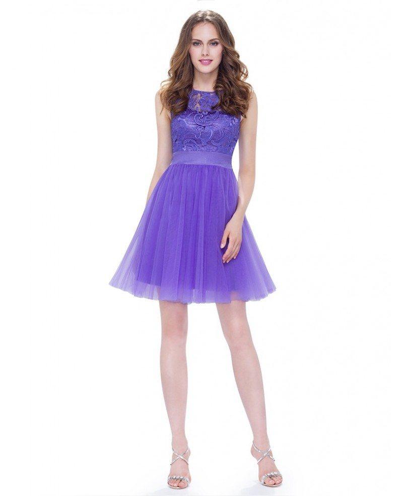 Round neck sleeveless short cheap bridesmaid dress for Short wedding dresses cheap