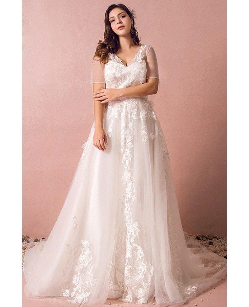 beach plus size wedding dresses