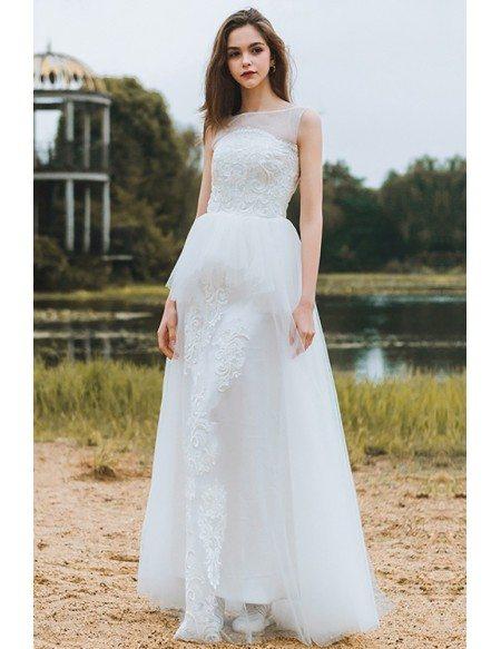 GRACE LOVE Country Chic Informal Boho Beach Wedding Dress Sleeveless For Destination