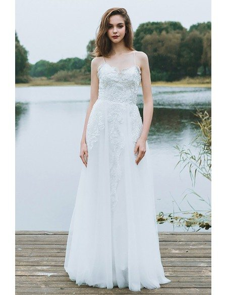 Fashion style Wedding Plain dresses with straps pictures for girls