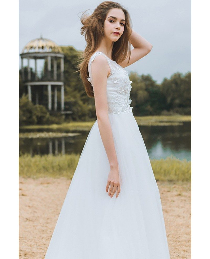 A-Line Beach Wedding Dresses