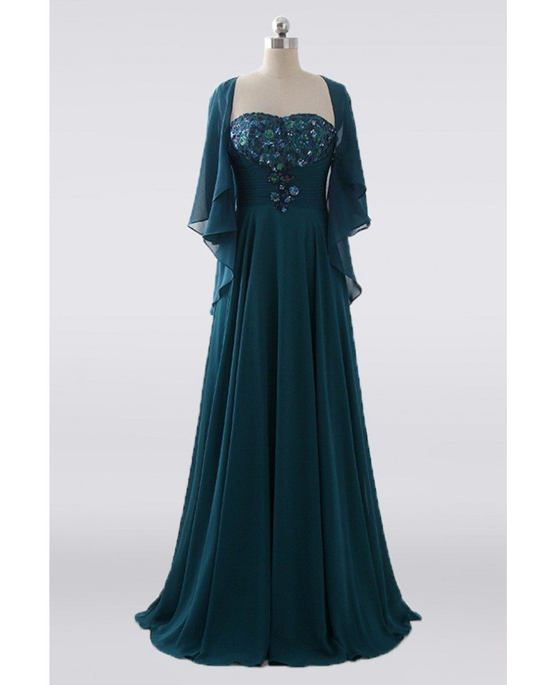 Pleated Empire Waist Chiffon Green Mother Of The Bride