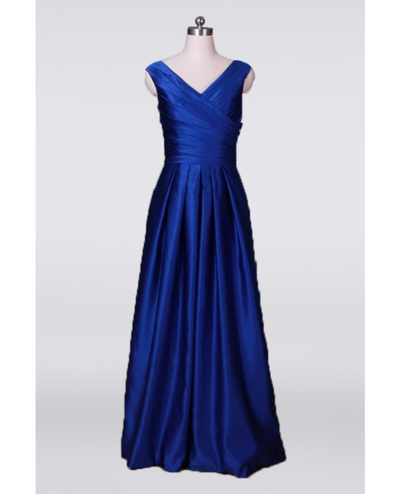 classy simple long mother of the bride dress pleated in